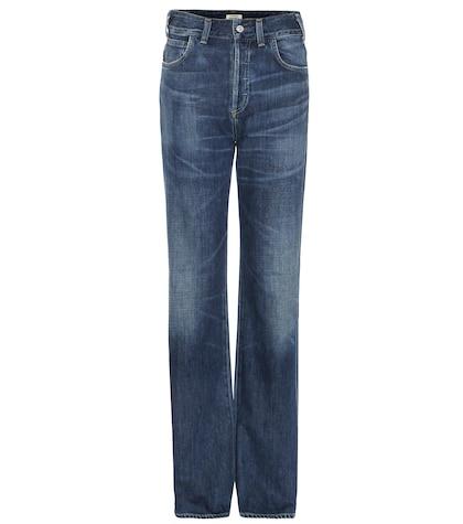 Vera high-rise straight jeans