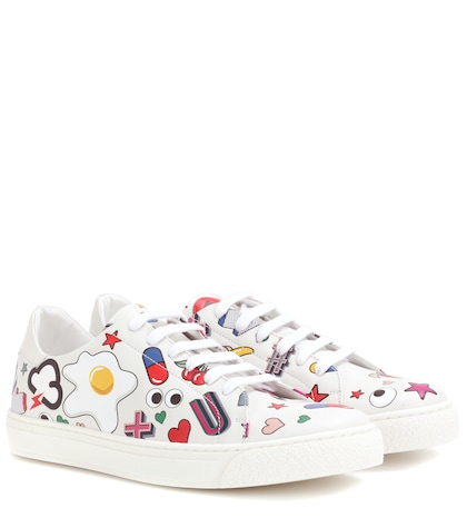 anya hindmarch female all over wink leather sneakers