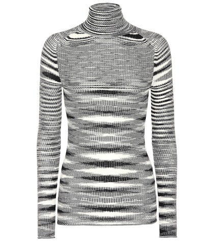 Cashmere and silk-blend top
