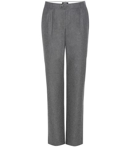 apc female wool trousers