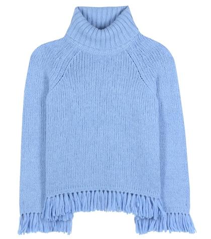 Jennifer fringed turtleneck sweater