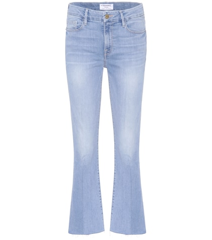 frame female le crop mini boot jeans