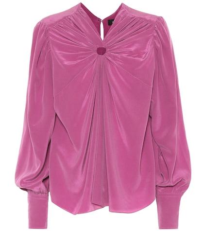 Lenore silk crêpe blouse