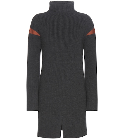 Virgin wool sweater dress
