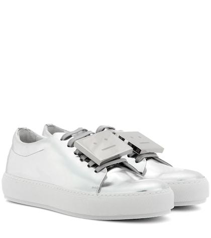 acne studios female adriana metallic leather sneakers