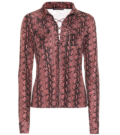 Snake-printed blouse