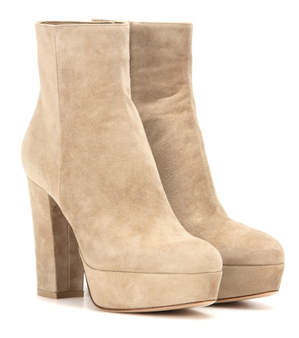 Temple suede ankle boots