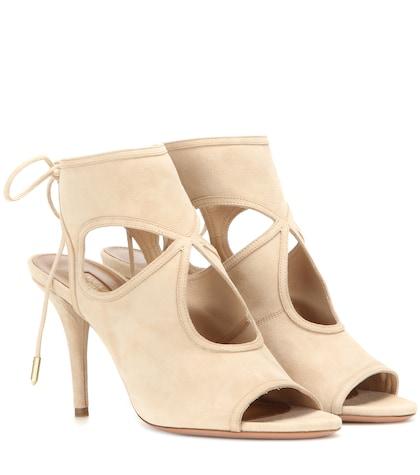 aquazzura female sexy thing suede sandals