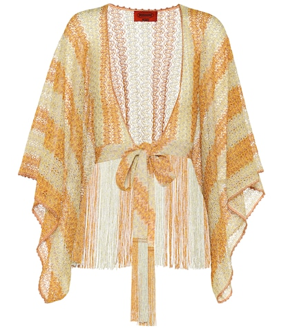 Crochet-knit cover-up