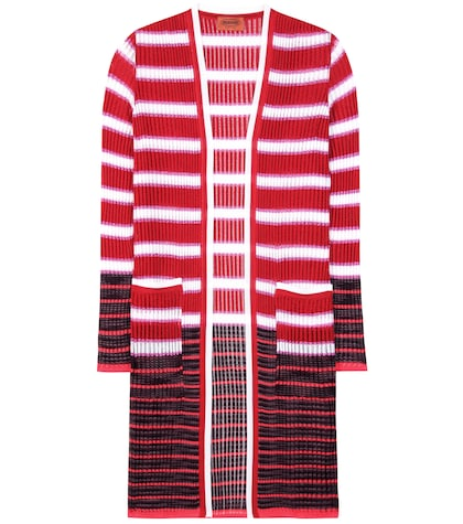 Crochet-knit Striped Cardigan