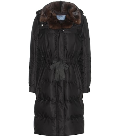 Down Coat With Fur Collar