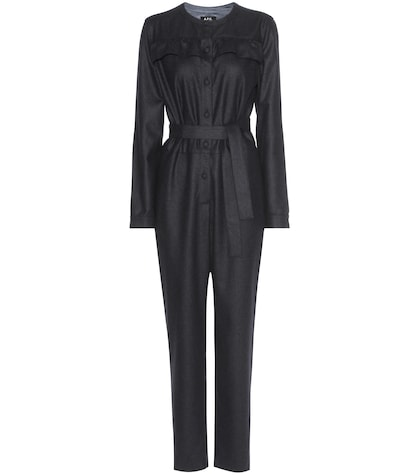 apc female lana wool jumpsuit