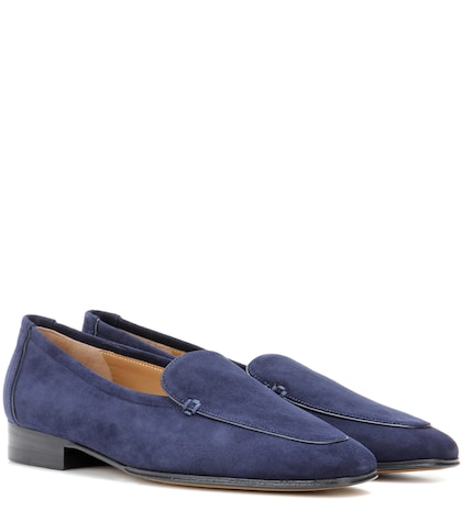 the row female adam suede loafers