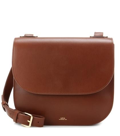 apc female christie leather shoulder bag