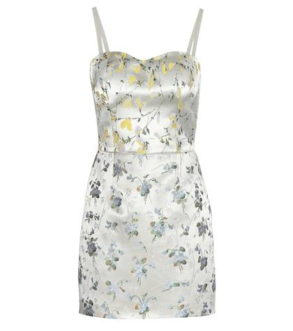 alexander mcqueen female silkblend jacquard mini dress