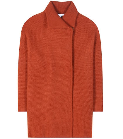 diane von furstenberg female avril wool cashmere and angorablend coat