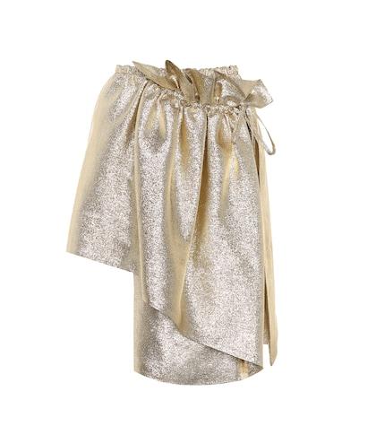 Metallic wrap skirt