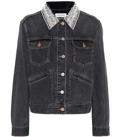 isabel marant etoile female christa embellished denim jacket
