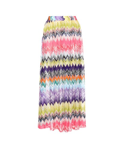 Crochet-knit Maxi Skirt