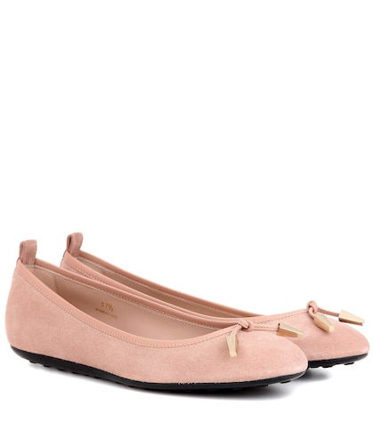 tods female laccetto suede ballerinas
