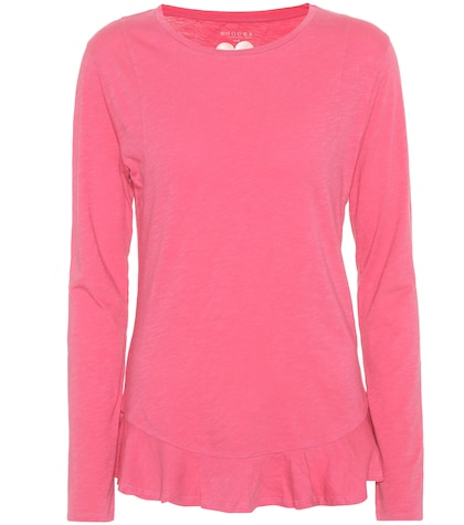Nella long-sleeved cotton top