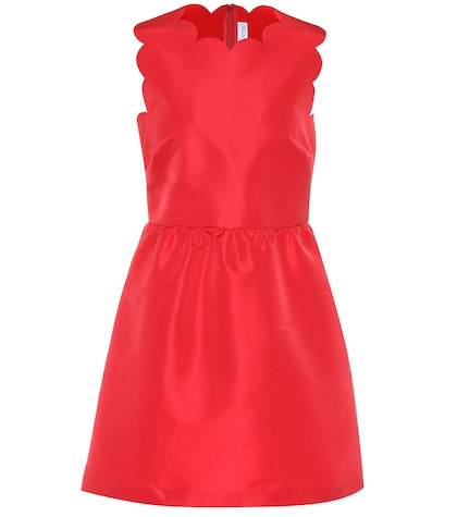 Scalloped satin dress