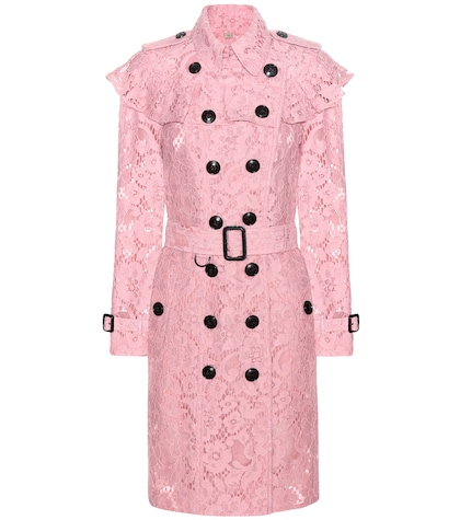 burberry female stanhill lace trench coat