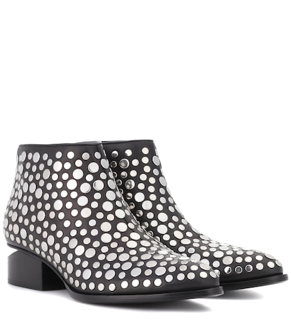 alexander wang female studded leather ankle boots