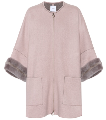 agnona female mink furtrimmed cashmere coat