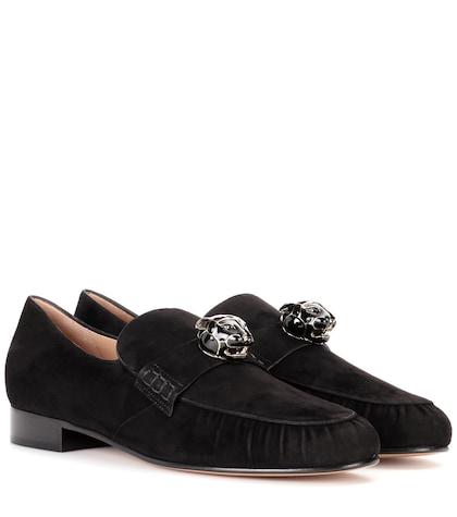 Valentino Garavani embellished suede loafers