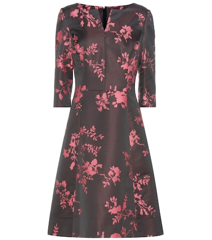 oscar de la renta female jacquard dress