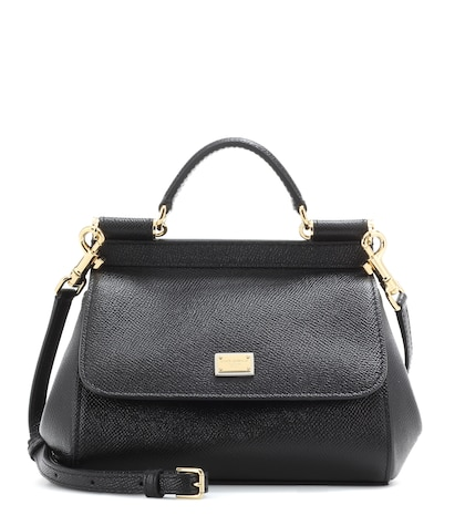 dolce gabbana female sicily mini leather shoulder bag