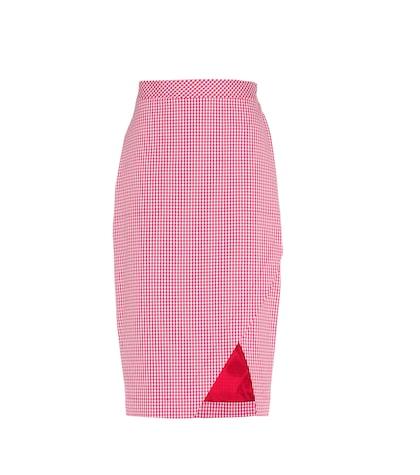 Wilcox gingham stretch cotton skirt