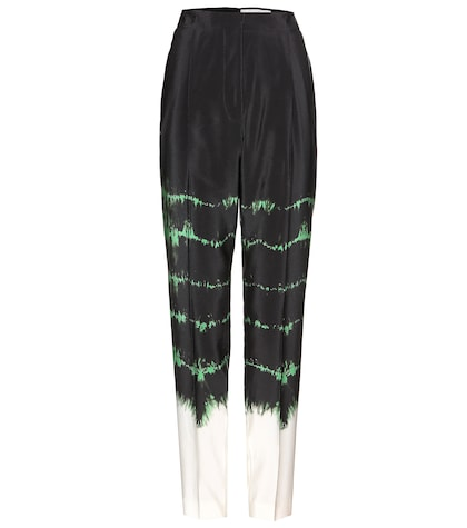 stella mccartney female printed silk trousers