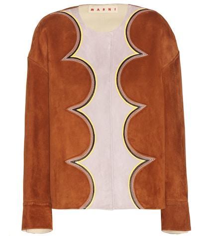 marni female suede jacket