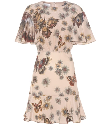 valentino female printed silk dress
