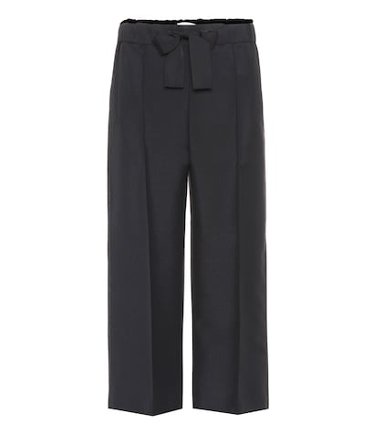 Mohair and wool blend culottes