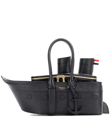 thom browne female cruise liner leather handbag