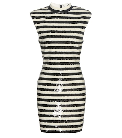 Striped Sequinned Dress