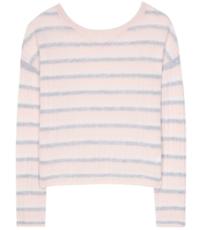 Calanta Striped Cashmere Sweater