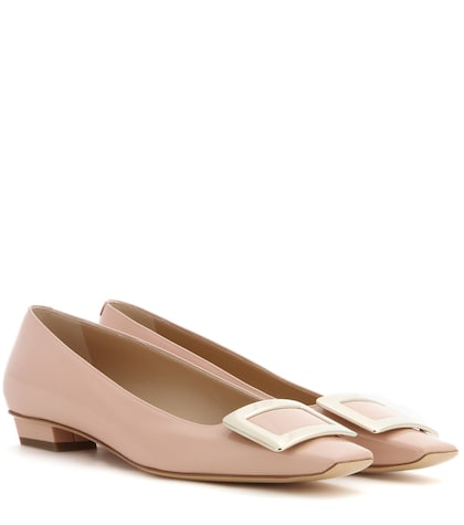 roger vivier female belle vivier patent leather ballerinas