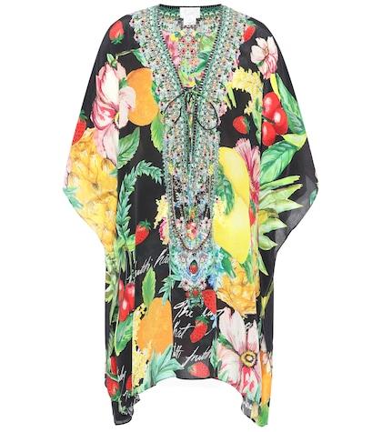 camilla female printed silk kaftan