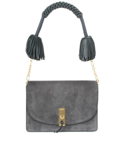 altuzarra female ghianda suede shoulder bag