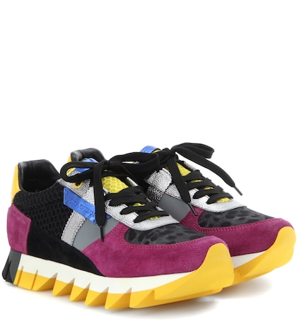 Leather, Suede And Fabric Sneakers