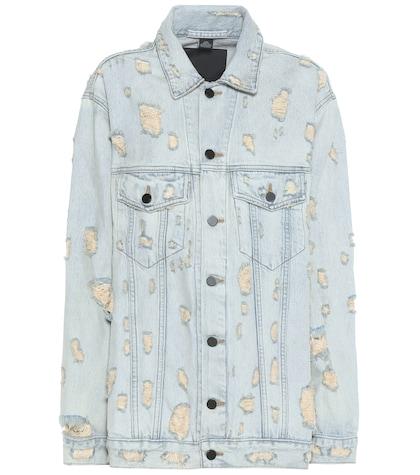 alexander wang female distressed denim jacket