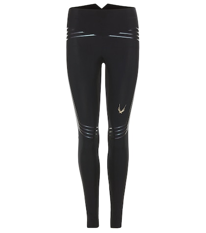 Blackstar Striped Stretch Leggings