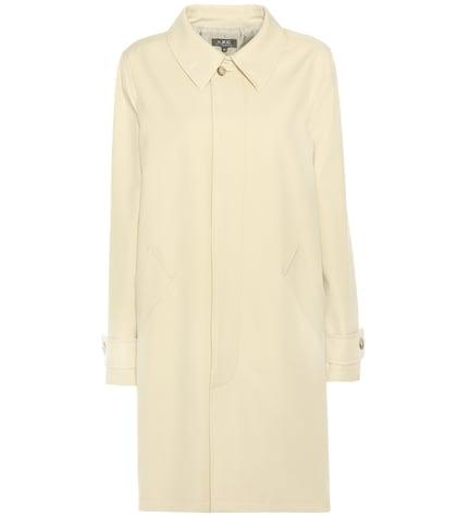 Dinard cotton and virgin wool coat