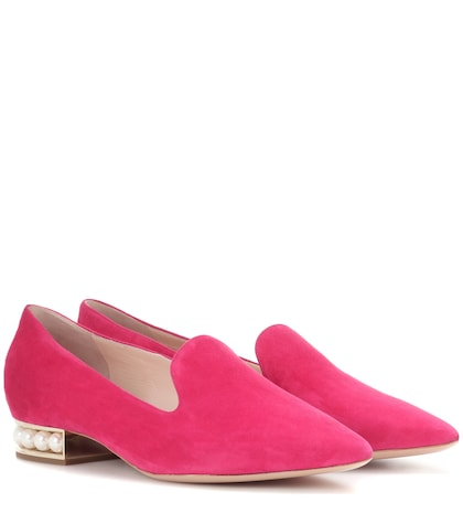 Casati embellished suede slippers