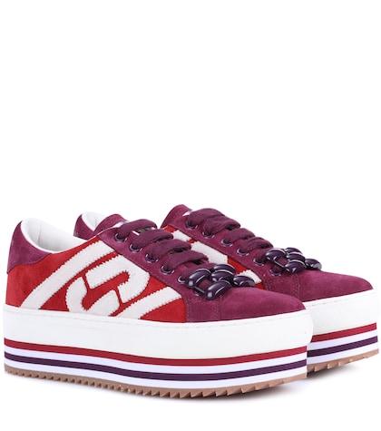 Grand suede platform sneakers