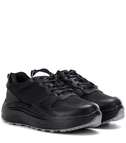 Jet Combo leather-trimmed sneakers